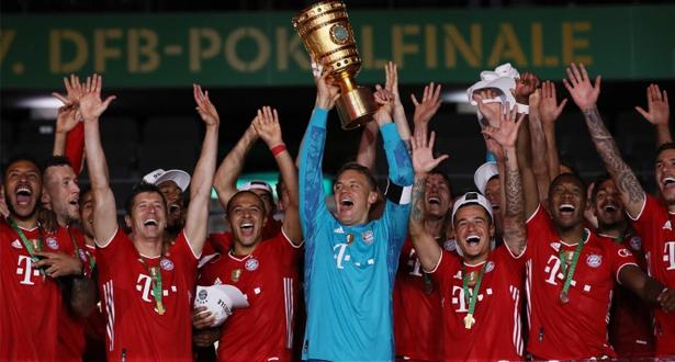 بايرن ميونيخ الألماني يتوج باللقب العشرين في تاريخه
